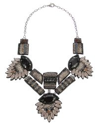 Deepa Gurnani | Gray Statement Beaded Necklace | Lyst