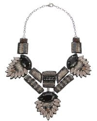 Deepa Gurnani - Gray Statement Beaded Necklace - Lyst