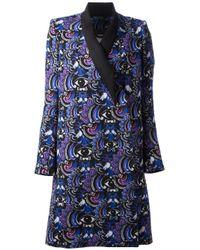 KENZO | Blue Eye Print Coat | Lyst