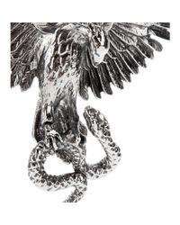 Roberto Cavalli - Metallic Brass Phoenix Brooch - Lyst
