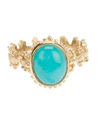Zoe & Morgan | Metallic Kirst Amazonite Ring | Lyst