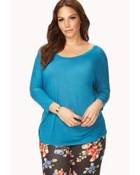 Forever 21 - Blue Easy Dolman Top - Lyst
