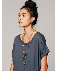 Free People | Green Medusa Tiered Statement Necklace | Lyst