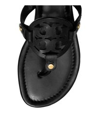 Tory Burch - Black Miller Sandal, Leather - Lyst