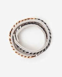 Vita Fede | White Monaco Double Wrap Leather Chain Bracelet  | Lyst