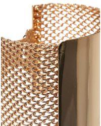 ASOS - Metallic Mesh Bar Bracelet - Lyst