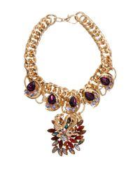 Jeffery West Metallic Premium Dragon Charm Necklace