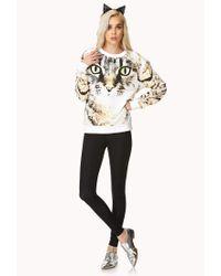 Forever 21 - Black Bold Cat Sweatshirt - Lyst