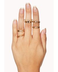 Forever 21 - Metallic Regal Ring Set - Lyst