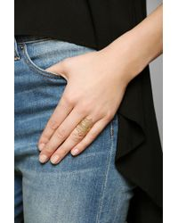 Urban Outfitters - Metallic Elizabeth Knight Stacked Lace Ring - Lyst