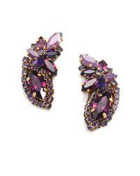 Aerin Erickson Beamon | Purple Jeweled Ear Cuff Earrings | Lyst