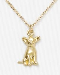 Dogeared | Metallic Chihuahua Pendant Necklace  | Lyst