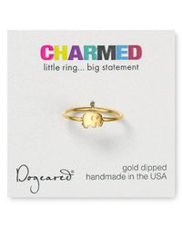 Dogeared - Metallic Sideways Cross Ring - Lyst