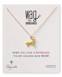 Dogeared | Metallic Golden Retriever Pendant Necklace  | Lyst