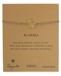 Dogeared | Metallic Original Karma Bracelet | Lyst