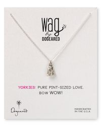 Dogeared | Metallic Yorkie Pendant Necklace  | Lyst