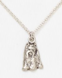 Dogeared | Metallic Yorkie Pendant Necklace  | Lyst