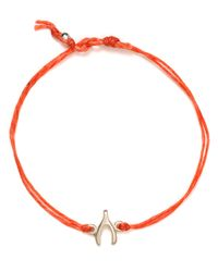 Dogeared - Metallic Wish Linen Bracelet - Lyst