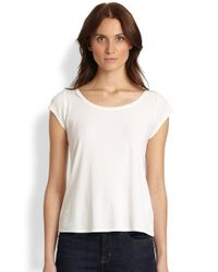 Eileen Fisher | White Cap-sleeve Tee | Lyst