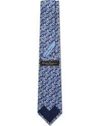 Ferragamo - Blue Hot Air Balloon Silk Tie for Men - Lyst