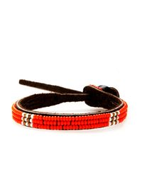 Henri Bendel - Orange Chan Luu Single Seed Bead Efi Bracelet - Lyst