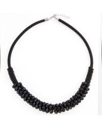 John Lewis | Black Cluster Tube Necklace | Lyst