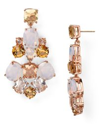kate spade new york - White Chandelier Earrings - Lyst