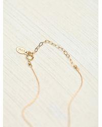 Free People - Metallic Vv Stone Bracelet - Lyst