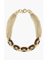 MICHAEL Michael Kors | Brown Michael Kors Modernist Glitz Multi Chain Toggle Necklace | Lyst