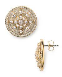 Nadri | Metallic Camelot Button Earrings | Lyst