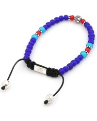 Nialaya - Blue Multibeaded Bracelet for Men - Lyst