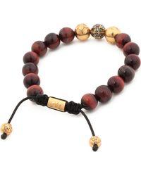 Nialaya | Brown Diamond Beaded Bracelet for Men | Lyst