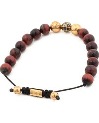 Nialaya | Brown Diamond Beaded Bracelet for Men | Lyst