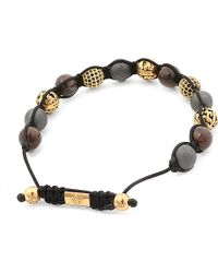Nialaya | Metallic Onyx Stone and Crystal Bracelet for Men | Lyst