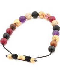 Nialaya | Multicolor Multi Crystal Beaded Bracelet for Men | Lyst