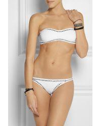Norma Kamali - White Studded Bandeau Bikini - Lyst