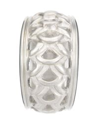 Slane - Metallic Feather Openwork Ring - Lyst