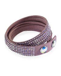 Swarovski - Pink Slake Wrap Bracelet - Lyst
