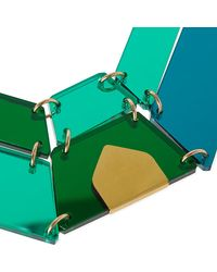 Tatty Devine - Green Jewel Cut Statement Perspex Necklace - Lyst