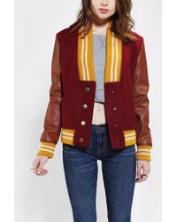 Urban Outfitters | Red Scott By Scott Varsity Jacket | Lyst