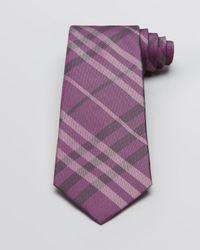 Burberry - Purple London Regent Check Woven Classic Tie for Men - Lyst