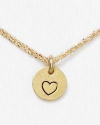 Dogeared - Metallic Circle Heart Necklace 18 - Lyst