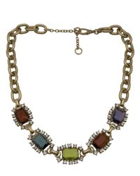 Gerard Yosca - Metallic Square Jewels Necklace - Lyst