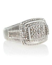 Judith Ripka - Metallic Pave Ring Size 6 - Lyst