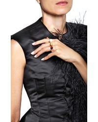 Delfina Delettrez - Metallic Triple Pearl Ring - Lyst