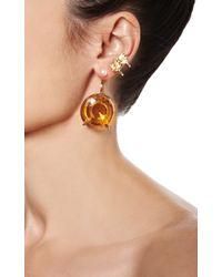 Delfina Delettrez - Never Too Light Earring In Orange Quartz - Lyst