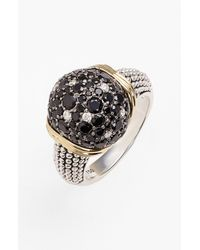 Lagos | Metallic Nightfall Diamond Black Spinel Ring | Lyst