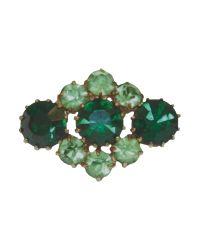 Tatty Devine | Green Jewel Print Brooch | Lyst