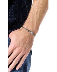 Yuvi - Gray Silver Mesh Bracelet with Two Tone Cord for Men - Lyst