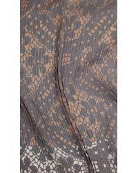 Burberry - Multicolor Lace Print Silk Crépon Scarf - Lyst